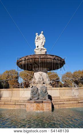 Fountain Rotonde (1860). Aix-en-provence, France