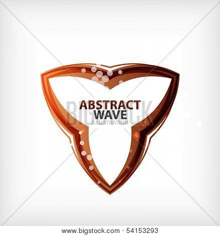Business orange wavy business symbol