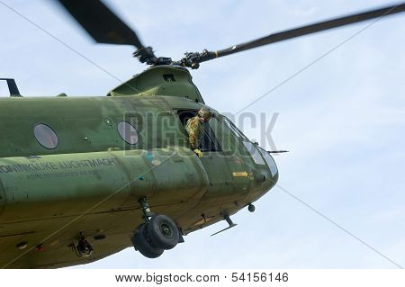 Chinook Helicopter Flying