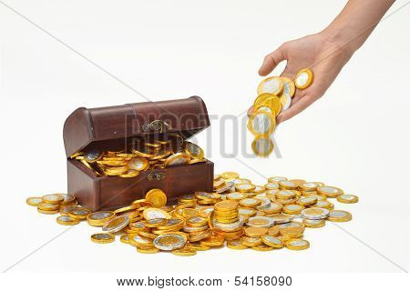 Throw coins