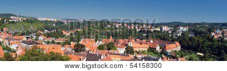 Panoramic view of  Cesky Krumlov,Prague, Czech