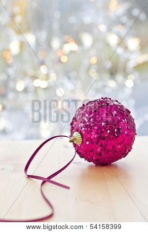 Big, Glittery Christmas Bauble
