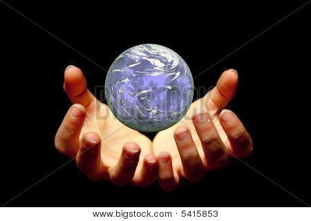 Halten ein Planeten
