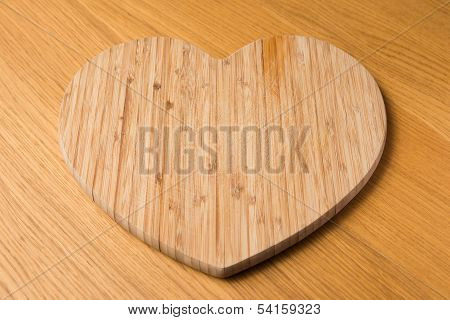 Wooden Heart Chopping Board
