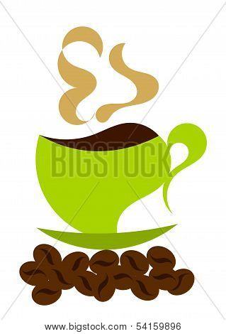 Steaming Coffee Illustration