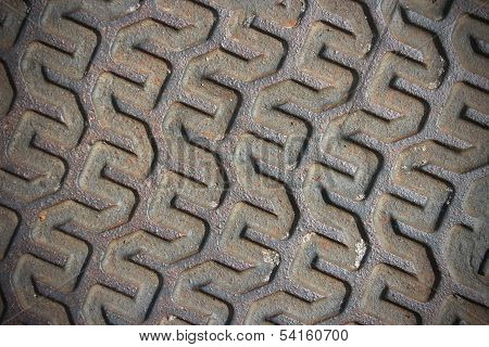 Skewed Metal Pattern Background