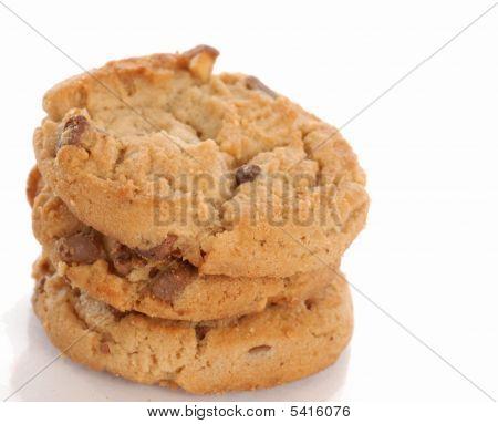 Mantequilla de maní tres galletas de Chocolate