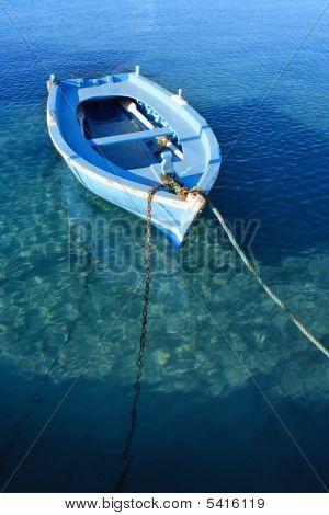Small Anchored Fishing Boat