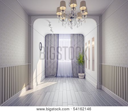 empty modern interior (3d rendering)