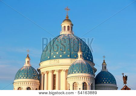 Roof Of Orthodoxy Church In Petersburg