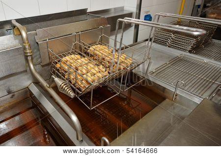 Chicken nuggets fried in oil, junk food