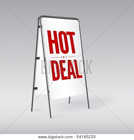 Pavement sign with the text Hot deal