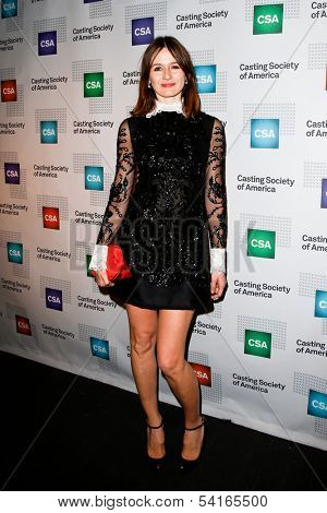 NEW YORK-NOV 18; Actress Emily Mortimer attends the CSA 29th Annual Artios Awards ceremony at the XL Nightclub on November 18, 2013 in New York City.