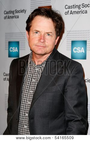 NEW YORK-NOV 18; Actor Michael J. Fox attends the CSA 29th Annual Artios Awards ceremony at the XL Nightclub on November 18, 2013 in New York City.