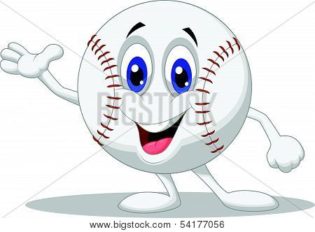 Baseball ball cartoon character