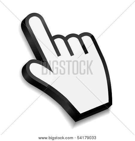 Mouse hand cursor vector illustration