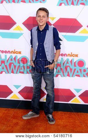 LOS ANGELES - NOV 17:  Jacob Bertrand at the TeenNick Halo Awards at Hollywood Palladium on November 17, 2013 in Los Angeles, CA
