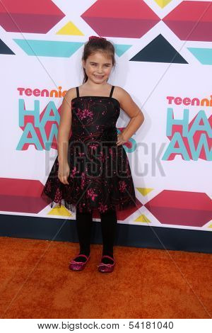 LOS ANGELES - NOV 17:  Bailey Michelle Brown at the TeenNick Halo Awards at Hollywood Palladium on November 17, 2013 in Los Angeles, CA