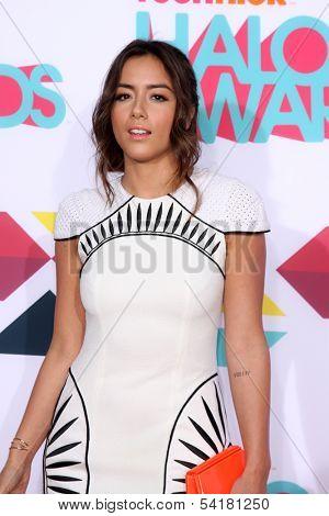 LOS ANGELES - NOV 17:  Chloe Bennet at the TeenNick Halo Awards at Hollywood Palladium on November 17, 2013 in Los Angeles, CA