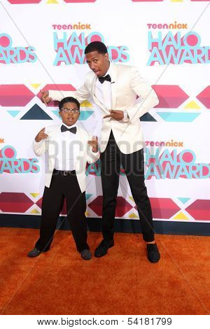 LOS ANGELES - NOV 17:  Benjamin Flores Jr., Nick Cannon at the TeenNick Halo Awards at Hollywood Palladium on November 17, 2013 in Los Angeles, CA