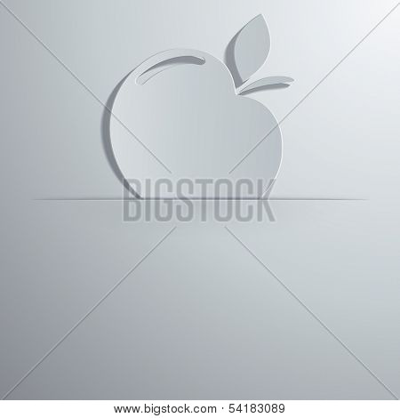 vector illustration of an apple icon