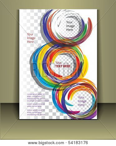 Well organized brochure print template. Layered eps file. For adding you images in this template Place your images on