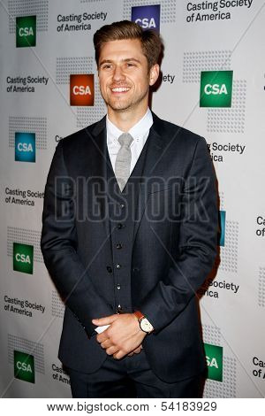NEW YORK-NOV 18; Actor Aaron Tveit attends the CSA 29th Annual Artios Awards ceremony at the XL Nightclub on November 18, 2013 in New York City.