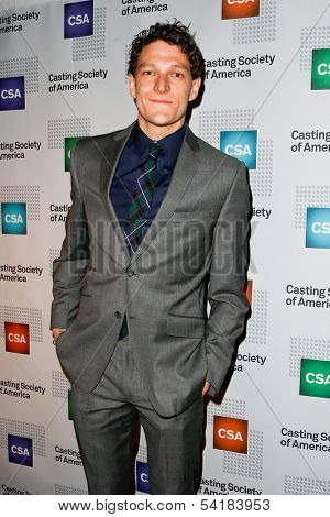 NEW YORK-NOV 18; Actor Gabriel Ebert attends the CSA 29th Annual Artios Awards ceremony at the XL Nightclub on November 18, 2013 in New York City.