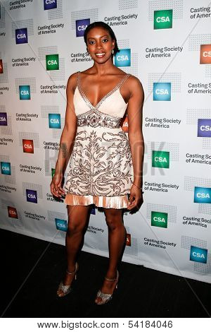 NEW YORK-NOV 18; Actress Condola Rashad attends the CSA 29th Annual Artios Awards ceremony at the XL Nightclub on November 18, 2013 in New York City.