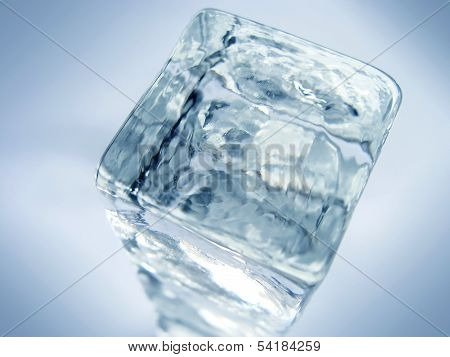 Glass Or Ice Cube Background