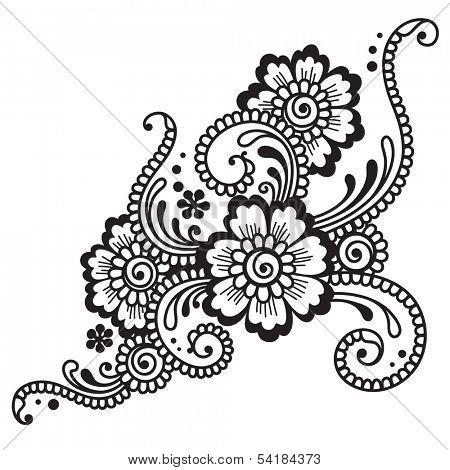 Henna ornament.