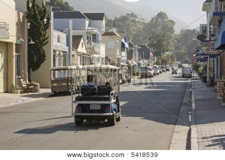 Catalina Golf Cart On The Street