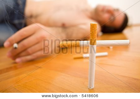 Man Lying On The Floor