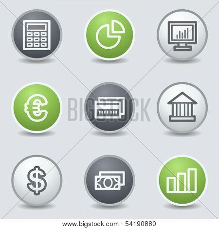 Finance web icons set 1, circle buttons