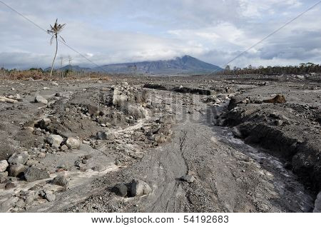 Area Flattened by Eruption