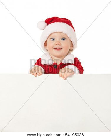 santa baby with blank board