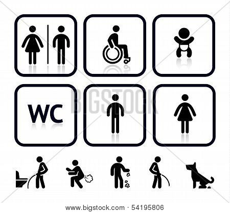 WC Symbole