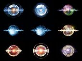 stock photo of orbs  - Wave Particle series - JPG