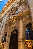 picture of carmelite  - The carmelite church facade in Valletta - JPG