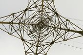stock photo of electricity pylon  - Detail of electricity pylon  - JPG