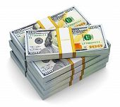 image of 100 dollars dollar bill american paper money cash stack  - Creative abstract business - JPG