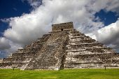 pic of yucatan  - Ancient Mayan pyramid - JPG