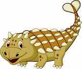 stock photo of ankylosaurus  - Vector illustration of Cute dinosaur ankylosaurus cartoon - JPG