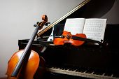picture of violin  - Classical music concept - JPG