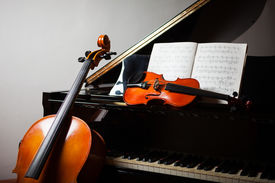 pic of cello  - Classical music concept - JPG