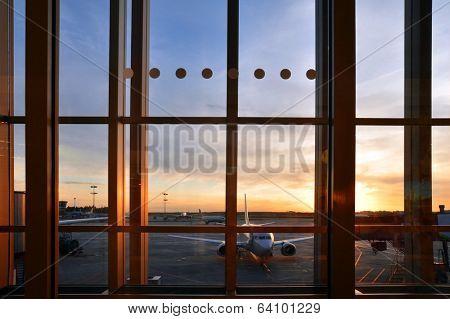 View through window.