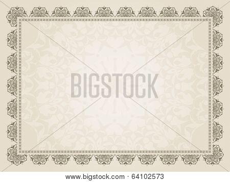 Decorative background of a certificate design