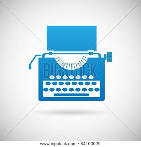 Retro Vintage Creativity Symbol Typewriter Icon Design Template Vector Illustration