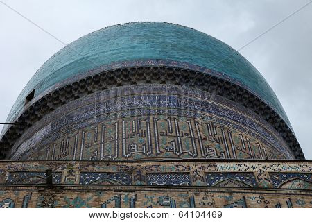 decorated dome in Samarkand, Uzbekistan