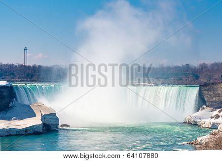 Horshoe Falls in Niagara Falls, Canada